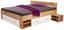 Postel Azurro 180 - bílá/barvy dubu, Moderní, kompozitní dřevo (204/75/185cm)