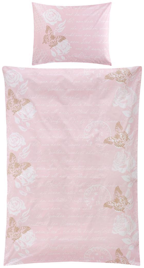 Povlečení Diary Butterfly -ext- - bílá/starorůžová, Romantický / Rustikální, textilie (140/200/cm) - Zandiara