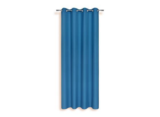 Ösenvorhang Isolde - Blau, KONVENTIONELL, Textil (140/245cm) - Ombra