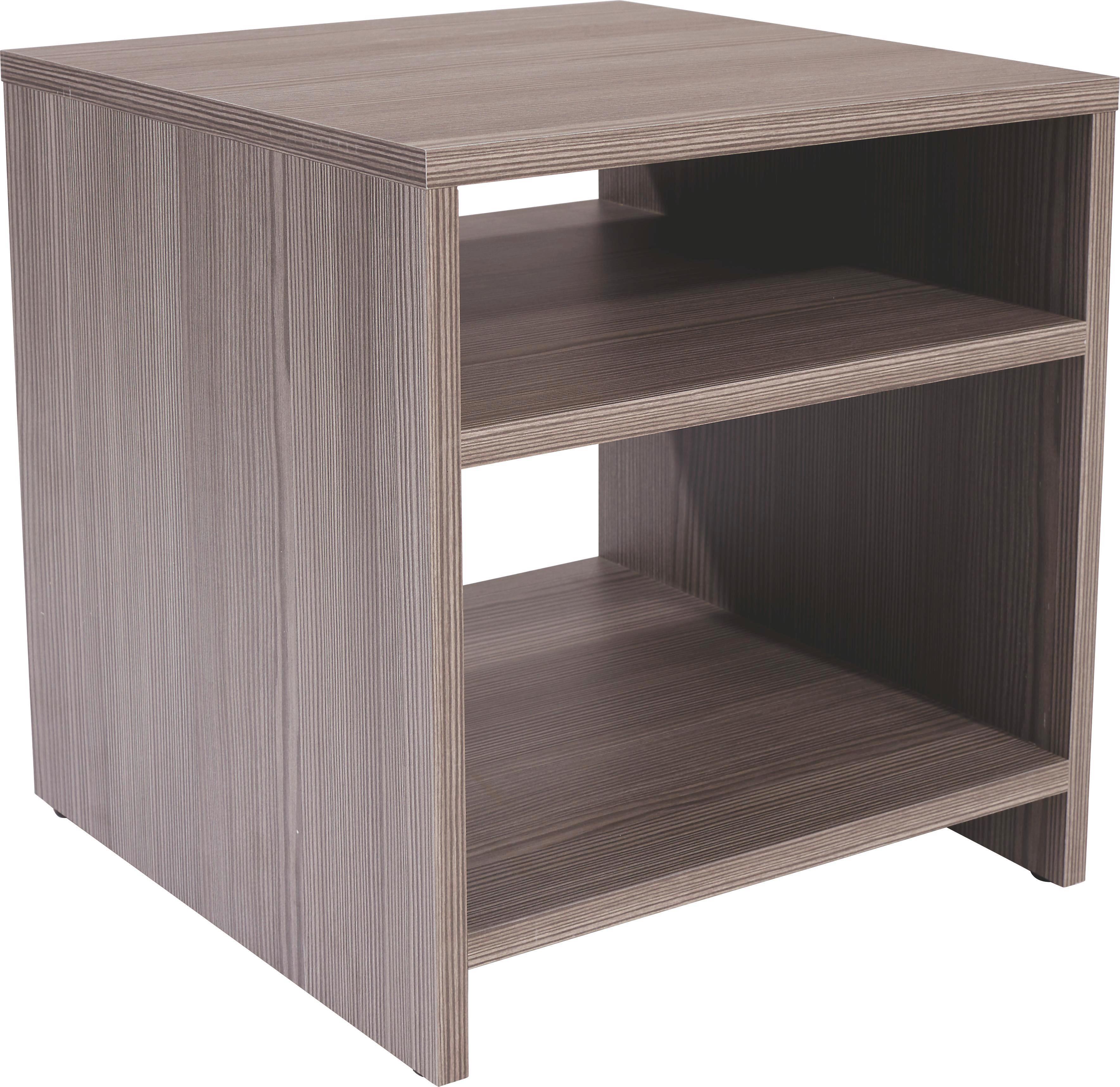 Kisasztal Luca - sötétbarna, modern, faanyagok (40/40/37cm)