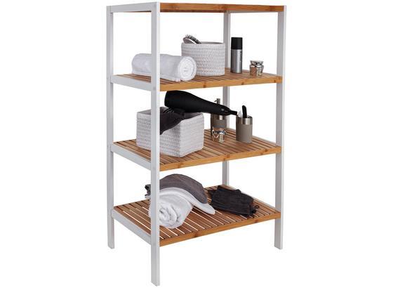 Regál Bambu - hnedá/biela, Moderný, drevo/kompozitné drevo (70/110/33cm)