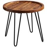 Couchtisch D: ca. 45 cm Sheeshamfarben - Sheeshamfarben/Schwarz, MODERN, Holz/Metall (45/45/40cm) - Carryhome