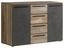 Kommode Mindi Idnk233 - Dunkelgrau/Schwarz, MODERN, Holzwerkstoff/Kunststoff (119,6/80,8/41,3cm)