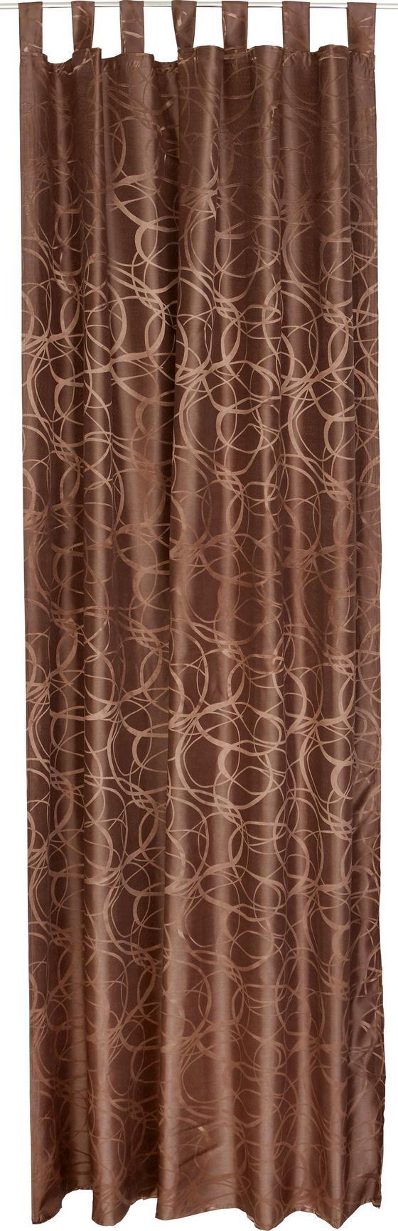 Kombi Készfüggöny Linda - barna, konvencionális, textil (140/255cm)