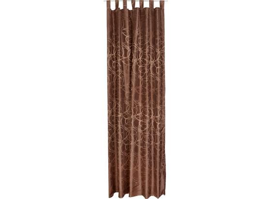 Vorhang mit Schlaufen und Band Linda B: 140 cm, Braun - Braun, KONVENTIONELL, Textil (140/255cm) - Ombra
