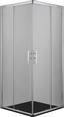 Eckeinstieg Proline B90c - Chromfarben, KONVENTIONELL, Glas/Metall (90/200/90cm)