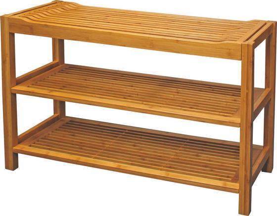 Schuhregal Sitz - Naturfarben, MODERN, Holz (78/50/32cm)