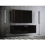 TV-Element Fernso B: 115 cm Schwarz - Schwarz, KONVENTIONELL, Holzwerkstoff (115/40/36cm) - MID.YOU
