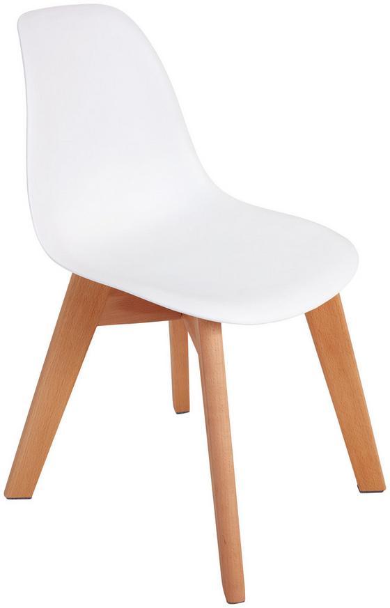 Kinderstuhl Bambino Weiß - Buchefarben/Weiß, MODERN, Holz/Kunststoff (30,5/57/36cm) - Ombra