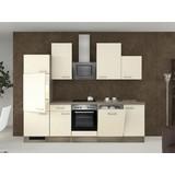 Küchenblock Eico 280cm Magnolie - Edelstahlfarben/Eichefarben, MODERN, Holzwerkstoff (280/60cm)