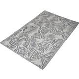 Outdoorteppich Blatt - Grau, MODERN, Kunststoff (120/180cm)