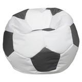 Sitzsack Play 150 L Weiß/ Grau - Weiß/Grau, MODERN, Textil (78/40cm) - Ombra