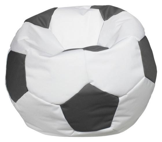Sitzsack Play 150 L Weiß/ Grau - Weiß/Grau, MODERN, Textil (78/40cm)