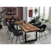 Stuhl-Set 02459-21 B: 51 cm Grau - Schwarz/Grau, Basics, Kunststoff/Metall (51/85/57cm)