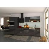 Küchenblock Mailand Gsp B: 330cm Anthrazit - Eichefarben/Anthrazit, Basics, Holzwerkstoff (330/200/60cm) - MID.YOU