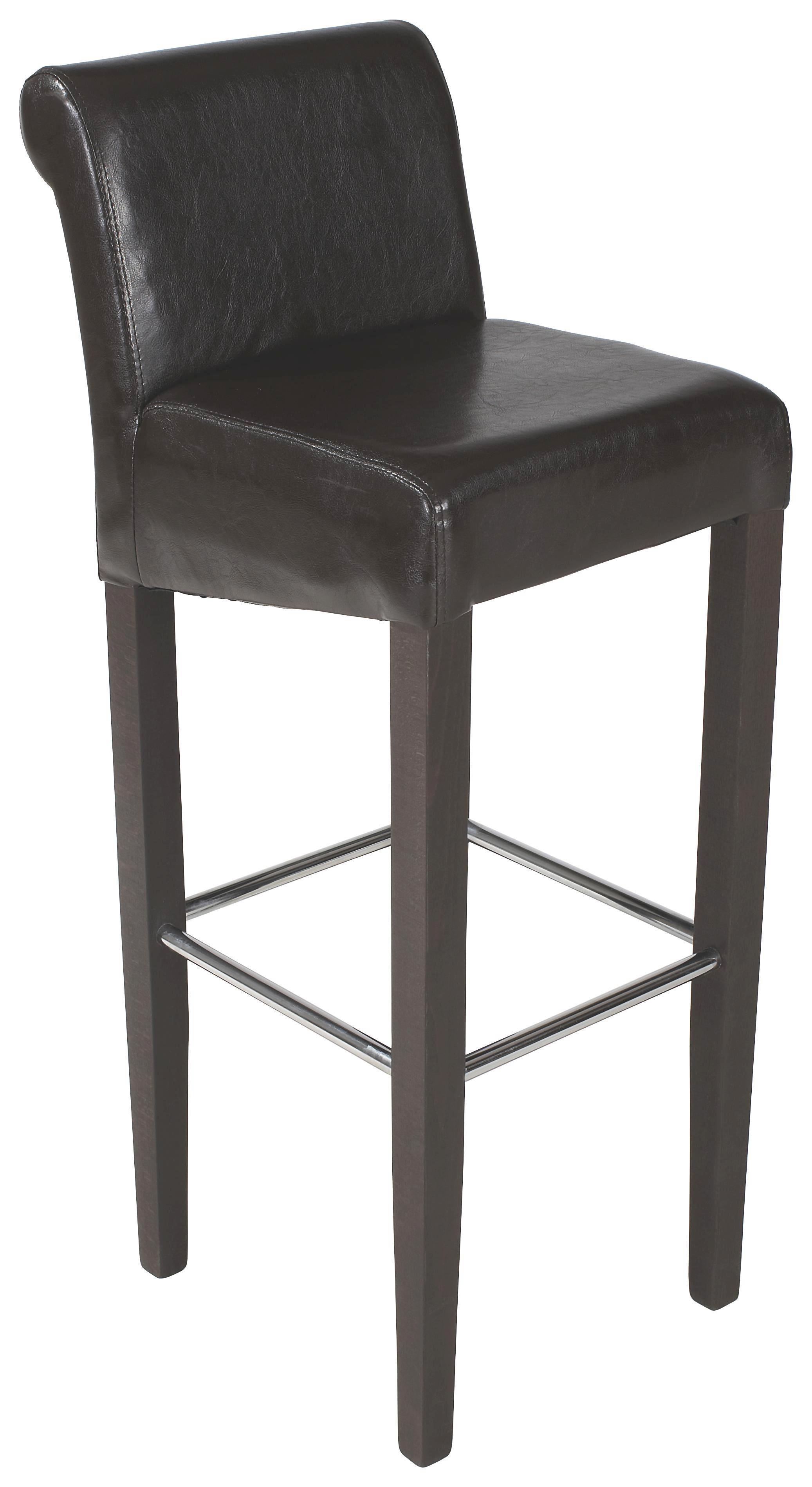 Barska Stolica Vana - tamno smeđa/wenge boje, Moderno, drvo/metal (36/101/48cm)