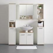 Spiegelschrank Yasmin B: 60 cm Weiß - Weiß, Basics, Glas/Holzwerkstoff (60/65/13,9cm)