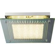 LED-Deckenleuchte Cinema - Chromfarben, MODERN, Glas/Metall (28/28/6cm)