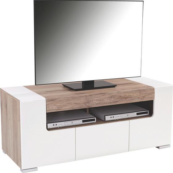Tv - Elem Toronto - Tölgyfa/Fehér, modern, Faalapú anyag (140/53/45,2cm) - Ombra