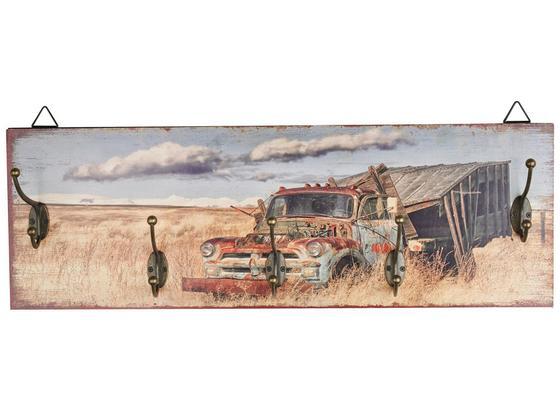 Hakenleiste Truck - Multicolor/Schwarz, MODERN, Holzwerkstoff/Metall (60/20/8,5cm)