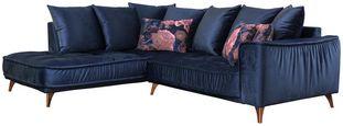 Sedací Souprava Belavio - tmavě modrá, Moderní, textilie (210/256cm)