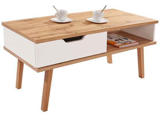 Konferenční Stolek Turin - bílá/barvy dubu, Moderní, dřevo/kompozitní dřevo (110/50/50cm)