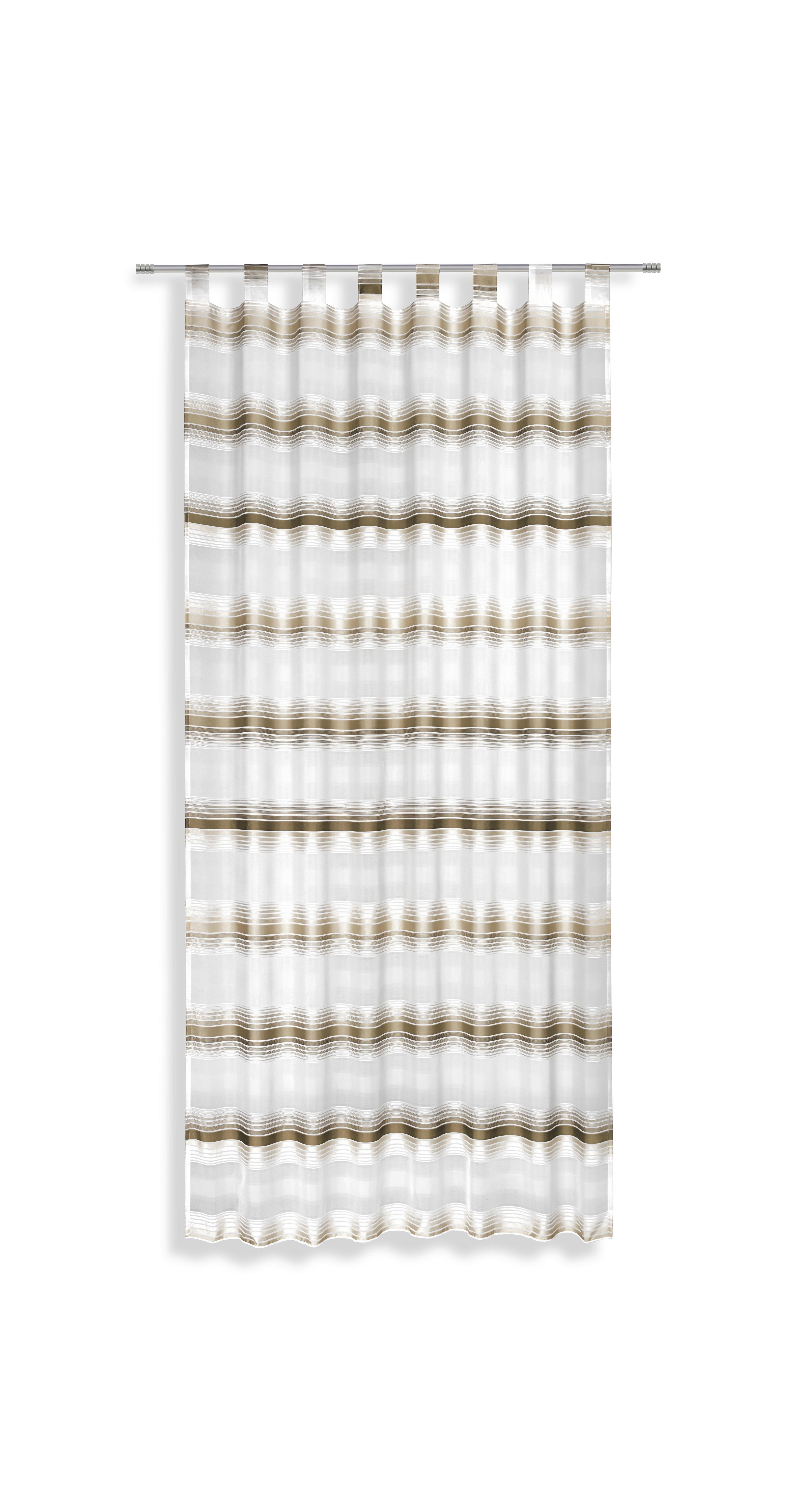 Kombivorhang braun/weiß