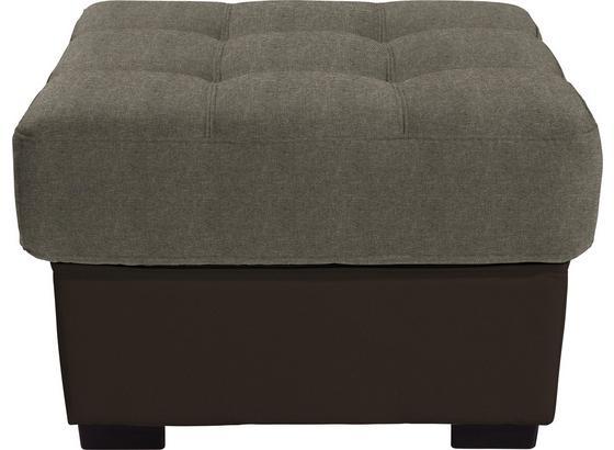 Hocker Burner - Hellbraun/Braun, MODERN, Textil (65/46/65cm)