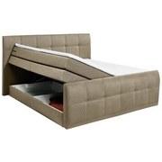 Boxspringbett mit Bettkasten 180x200cm Sacramento B2, Sand - Sandfarben, Basics, Holzwerkstoff/Textil (180/200cm) - Carryhome