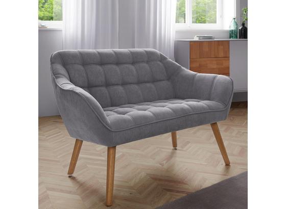 Pohovka Monique - světle šedá, Moderní, dřevo/textil (127/76/74,5cm) - Mömax modern living