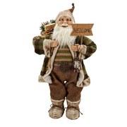 Weihnachtsmann Rupert - Multicolor, KONVENTIONELL, Naturmaterialien/Holz (80cm) - Ombra