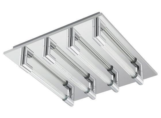 LED-Deckenleuchte Velarde - Klar/Chromfarben, MODERN, Glas/Metall (32/32/7cm)