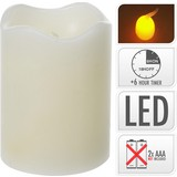 LED-kerze 7x9 cm - Creme, KONVENTIONELL, Weitere Naturmaterialien (7/9cm)