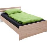 Bett 140x200 Cariba, Eichefarben/Weiß - Eichefarben/Weiß, Design, Holzwerkstoff (140/200cm) - MID.YOU
