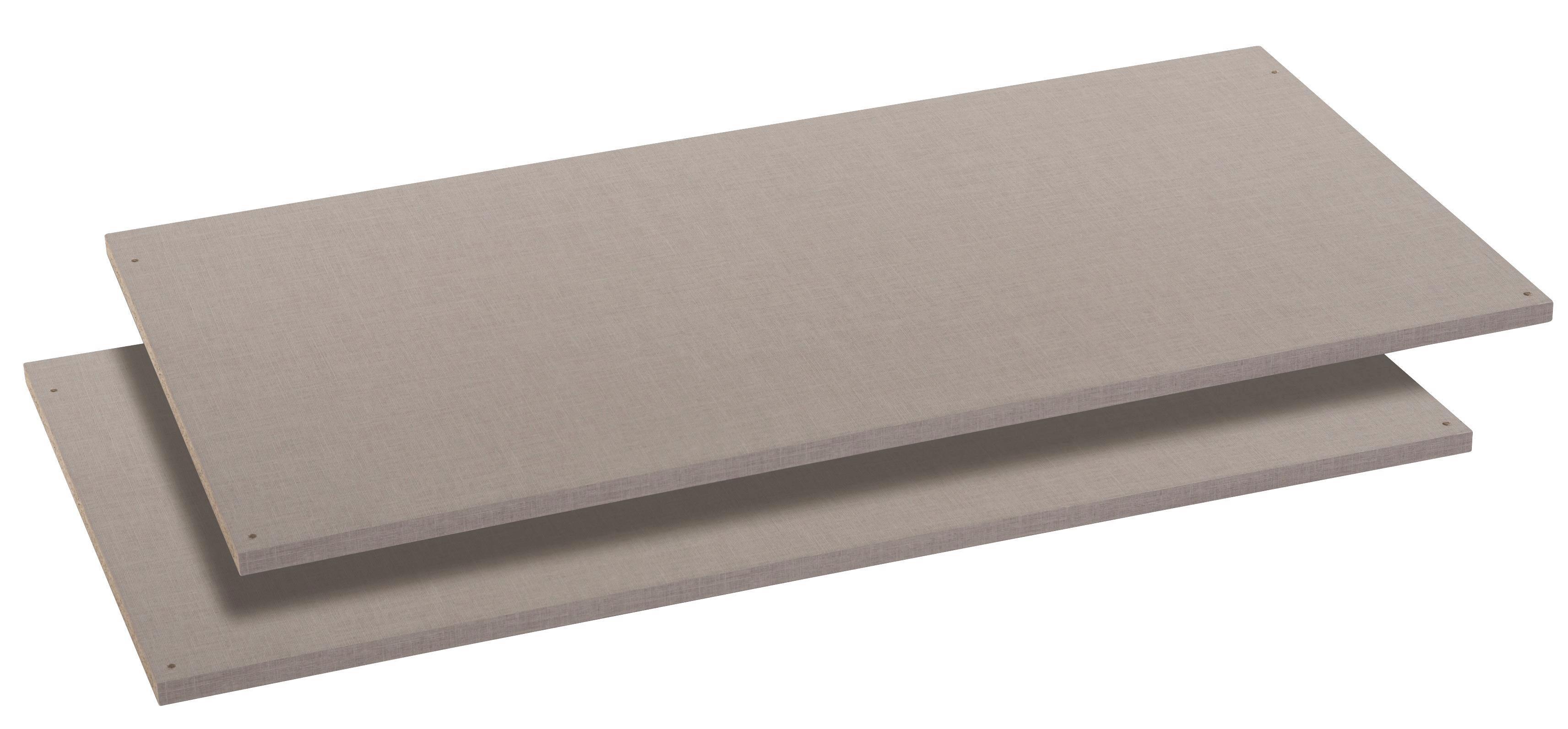 Belső Polc Bert, 2db-os Szett - szürke, konvencionális, faanyagok (110/50cm)