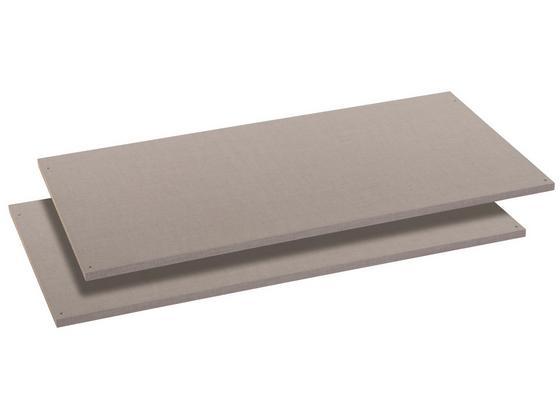 Einlegeboden Bert/ilona, 2er Set - Grau, Holzwerkstoff (110/50cm)