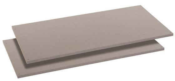 Vkládací Police Bert/virgo/ernie/chester - šedá, Konvenční, dřevěný materiál (110/50cm)