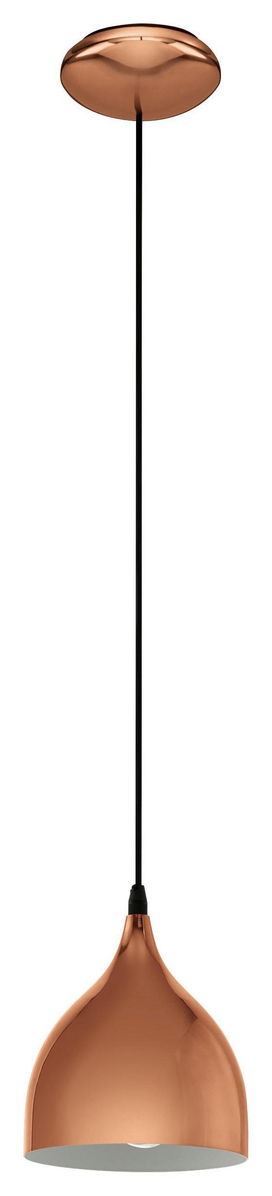 Hängeleuchte Coretto Ø 17 cm - Kupferfarben, MODERN, Metall (17/110cm)
