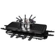Raclette-Grill mit Fondue - Schwarz, Basics, Kunststoff/Stein (60/25/15cm) - Silva Schneider