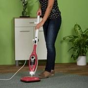 Dampfreiniger Livington UV Mop Rot - Rot/Weiß, KONVENTIONELL, Kunststoff (23/30/116cm) - MEDIASHOP
