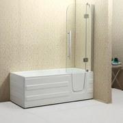 Badewanne Paros mit Türe Rechts - Weiß, MODERN, Kunststoff (170/76/61cm)