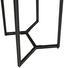 Jídelní Stůl Iron - černá/přírodní barvy, Moderní, kov/dřevo (65/76/65cm) - Zandiara