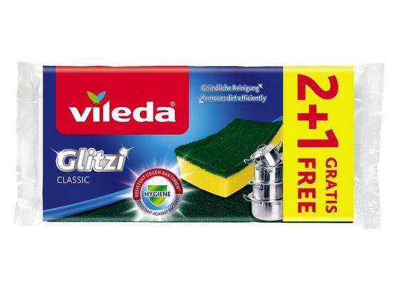 Kombischwamm Vileda Glitzi Classic - Gelb/Grün, Basics (22,5/11/2,6cm) - Vileda