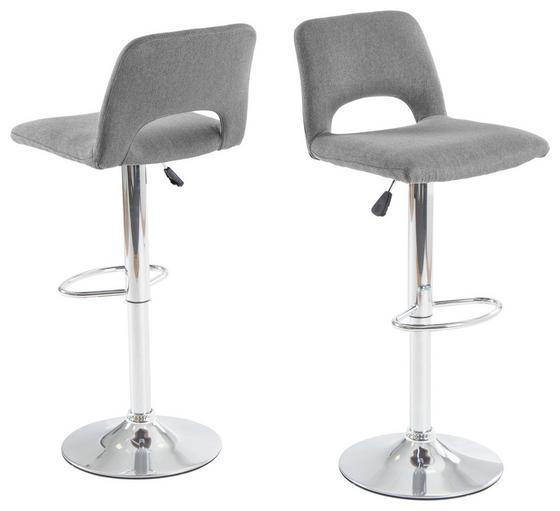 Barová Židle Marlene - šedá/barvy chromu, Moderní (42/95-115/49cm)