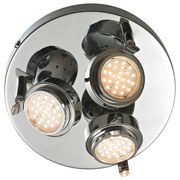 Spotleuchte Button - Chromfarben, MODERN, Metall (25/14cm)