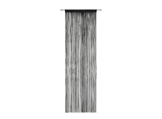 Nitkový Záves Victoria - čierna, textil (90/245cm) - Mömax modern living