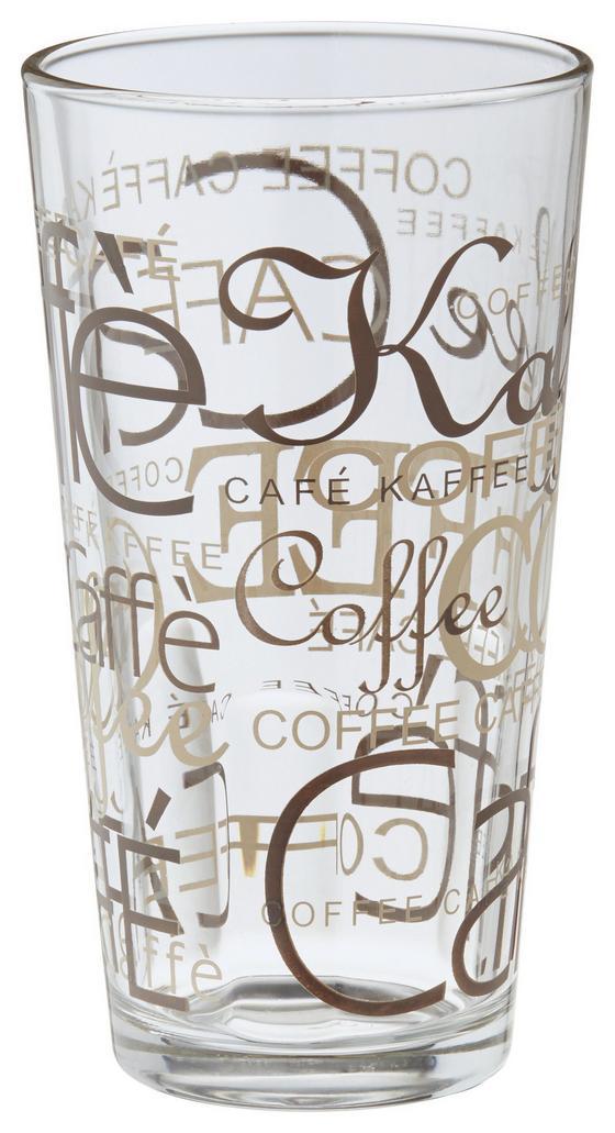 Sklenice Na Kávu Rocco - čiré/hnědá, Konvenční, sklo (0.39l) - Mömax modern living