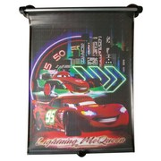 Sonnenrollo Cars - Rot/Schwarz, KONVENTIONELL, Textil/Metall (41/52/3,5cm) - Disney