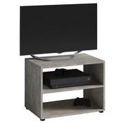 TV-Regal Vancouver B: 60 cm, Beton Dekor - Schwarz/Grau, KONVENTIONELL, Holzwerkstoff (60/45/39cm) - MID.YOU