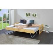 Ausziehbett Echtholz inkl. Lattenrost 90x200cm Vindas - Naturfarben, Basics, Holz (90/200cm) - MID.YOU